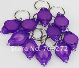 Cheap UV Purple Money Detector LED Keychain Light UV torch flashlight