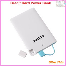Wholesale Best Seller Ultra thin Credit card Style Power Bank Pack Backup External Battery Charger for Most Micro usb Enabled Devices