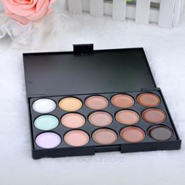 Hot sale15Colour Pro Sheer Concealer Camouflage Palette Face Cream makeup Eyeshadow Bronzer kit set LS*MPJ034