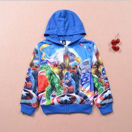2016 new DHL Free Boy's Thor Casual Jacket&Coat Baby Boy's The avengers Cosplay Coat Kids Iron man thor hulk Casual jackets baby hoodies