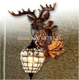 Modern Home Light Deer Horn Decoration Wall Lamp Bed-lighting Diamond Wall Lamp Resin Deer Head Decor Wall Lamp