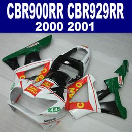 Customize motorcycle fairings set for HONDA CBR929 2000 2001 green white black plastic fairing kit CBR 929 RR CBR900RR HB9