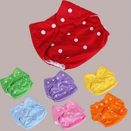 free shipping Hot Baby Diapers Children Cloth Diaper Reusable Nappies Adjustable Diaper Covers Washable 7 Colors Choose