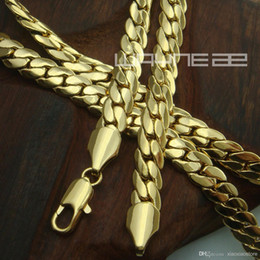 Wholesale 18k gold Filled mens solid Snake chain Necklace link jewellery N230