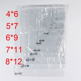 PE Clear Plastic Bags Zip Locks Ziplock Zipper Poly OPP Self Adhesive Seal Packing Package Packaging for Retail Recyclable 7C Small Size