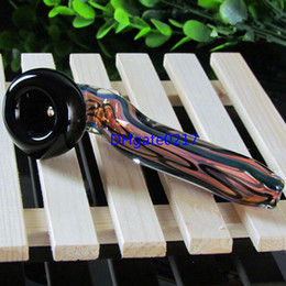Wholesale 115mm Ring boat style Glass spoon pipe herbal pipe smoking hand pipes smoking tobacco Pipes for herb