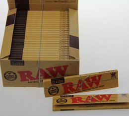 Wholesale RAW Cigarette rolling paper Natural unrefined Cigarette papers King Size tobacco paper tobacco papers smoking accessories