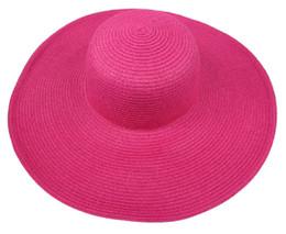 Wholesale-Fashion Woman Straw Hats Wide Brim Floppy Fold Summer Beach Sun Hat