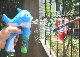 Wholesale Children s toys blowing bubbles gun cartoon dolphins blowing bubbles automatic bubble machine set