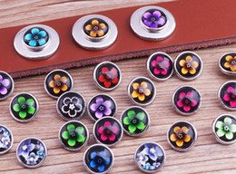 JACK88 Wholesale 12mm Mixed Color Flowers Ginger Snap Button 60pcs lot Fit DIY Snap Bracelet Earring Snap Jewelry M719