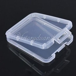 Wholesale 100pcs TF Micro SD SDHC MMC CF Stable Protective Memory Card Plastic Clear Holder Box Storage Case