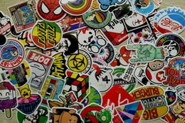 Wholesale 50 mixed decal Car styling Motorcycle bike bicycle stickers for Skateboard Laptop Luggage Snowboard Car Fridge Phone Home decor