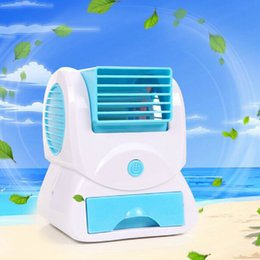 Wholesale 2015 Summer Portable Mini Handheld Air Conditioner USB Battery Fragrance Small Table Cooling Fan Piece