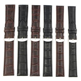2017 bracelet en cuir véritable Bracelet New 22mm Arrivée 18mm 20mm watchbands en cuir véritable de haute qualité Bracelet montre noir / brun gros Livraison gratuite bracelet en cuir véritable à vendre