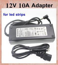 2017 12v ac chargeur AC 100-240V adaptateur 12V 10A Alimentation DC Adaptateur UE AU UK US brancher pour l5050 3528 led strip chargeur adaptateur d'éclairage DHL DY007 gratuitement 12v ac chargeur à vendre