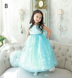 DHL 2 Design Girls Lace paillette Dress new children lovely Princess Lace snow flake dress B