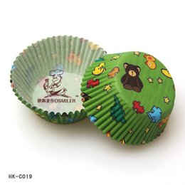Wholesale 1127 quot quot Animal baby shower greaseproof cupcake liners paper decorative cake tools support wholesales C19