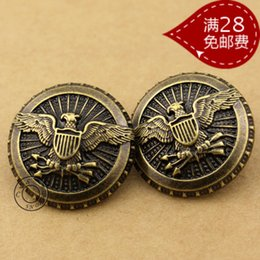 Wholesale Vintage british style all match suit button antique brass trench outerwear buttons crafts