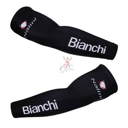 Wholesale 2015 bianchi Pro Team Breathable Cycling Sport Armwarmer Summer MTB Bike Armwarmer Black Quick Dry Racing MTB Bicycle Ciclismo Armwarmer
