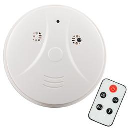 Wholesale HD x960 Smoke Detector Detection Model Hidden Spy Camera DVR Camcorder DV Remote White Smoke DVR Online