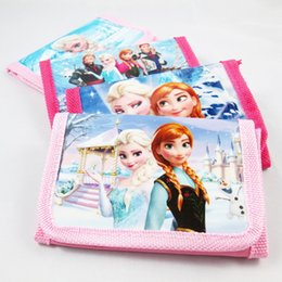 Wholesale Frozen Coin Purse Elsa Anna money bag party Wallets Holders baby girls Frozen Coin Purses kids Snow Queen wallet children Hot