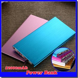 Wholesale Ultra thin mAH Power Bank Battery Safety USB Charger Emergency for Mobile iphone Android cellphones chargers