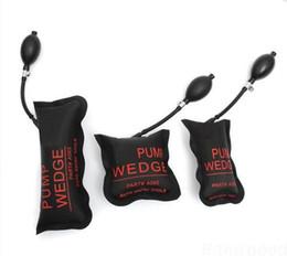 Wholesale KLOM black Air Pump Wedge Inflatable Unlock Vehicle Lock Picks Tool Black S M L U locksmith tools
