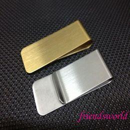 Stainless Steel Brass Money Clipper Slim Money Wallet Clip Clamp Card Holder Credit Name Card Holder
