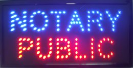 Hot selling NEON NOTARY PUBLIC SIGNS 10X19 inch high bright light up electronic led Plastic PVC frame Display