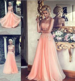 Pink New Appliqued Evening Dresses A line Sweetheart Pleats Chiffon Beaded Party Long Dress Formal Zipper Back Hot Prom Gowns