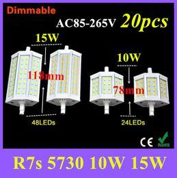 20X R7S LED Lamp SMD5730 78mm 118mm LED R7S Light Bulb 85V -265V 110V 220V Energy Saving Perfect Replace Halogen Light Lampada