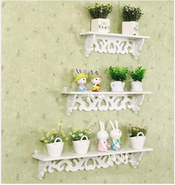 Wholesale Hot Decorative Carved Wood Shelf Storage Holders Racks Wall Mounted Kitchen Bathroom Shelves Wood Plastic Composite Rack Hanging