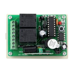 Wholesale 12V Channel RF Wireless Remote Control Receiver Relay Module SwitchSuper Heterodyne MHz Learning Code F4144B433