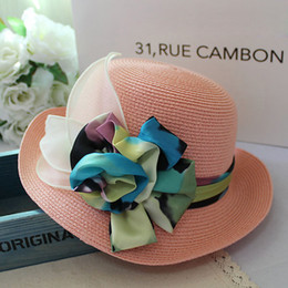 Wholesale-Sexy Women All-Match Wide Brim Foldable Sun Hat Bowler Summer Vacation