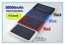 High Capacity 50000 mah Solar Charger and Battery 50000mAh SolarCharger Panel Dual Charging Ports portable power bank for Cell phone MP3 MP4
