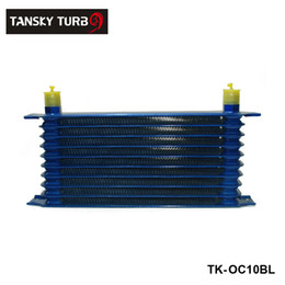 Tansky - 10 rows 50mm thick aluminium universal TRUST TYPE oil cooler For Universal With No Logo TK-OC10BL