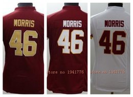 Wholesale Factory Outlet New Alfred Morris retired womens Elite Football Jersey stitched Morris size S XXL Burgundy red gold white ladies jers