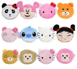 Wholesale Cartoon sector change purse Han edition zero wallet Cute plush girl COINS small bag Cloth art the key packet