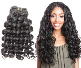 Greatremy® Deep Curl Brazilian Human Hair Extentions Bundles Natural Color Funmi Hair Weaves Cheap Deep Curly