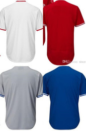 Factory Outlet Cheap Womens Mens Kids Toronto Blank Baseball Jerseys No Name No Number Embroidery Logo White Blue Gray Red Jerseys