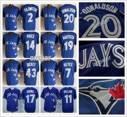 Mens Toronto Blue Jays Jerseys 14 David Price 11 Kevin Pillar 20 Josh Donaldson 19 Jose Bautista 6 Marcus Stroman Baseball Jerseys cheap