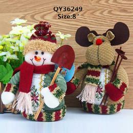 Wholesale Centro Santa Claus Snowman ciervos Tabla del envío ornamento de la Navidad cubierta Permanente Decoración gratuito