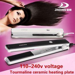 Wholesale 110 v Dual voltage Hair straightener nano titanium ceramic Styling tools professional pro flat iron hair iron