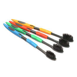 Wholesale set Ultra Soft Toothbrush Teeth Brush Bamboo Charcoal Nano Oral Care Tooth Brush Health Teeth Denticlean Dental Equipment