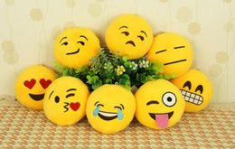 Wholesale Key Chains cm Emoji Smiley Small pendant Emotion Yellow QQ Expression Stuffed Plush doll toy for Mobile bag pendant FASHION556
