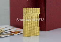 Wholesale S T Memorial Dupont lighter Bright Sound New In Box Gas converter Silver Serial number C102