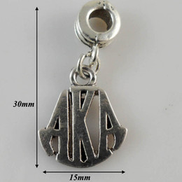 Wholesale Fashion Jewelry Charms a hot sale antique silver plated greek letter alpha AKA charms