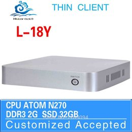 Wholesale Deluxe Computer Host Desk Top Computers Ultra Low Power DECT ULE L Y N270 SINGLE Lan gb Ram gb SDD