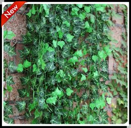 Wholesale 10pc cm pc factory decorative wedding Chinese ivy Vine Home Decor Silk Artificial Green Plant Garden Rattan Party