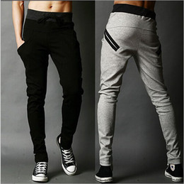 Wholesale-Mens Joggers New Fashion:Casual Harem Sweatpants Sport Pants Trousers Men Tracksuit Bottoms For Track Training Jogging